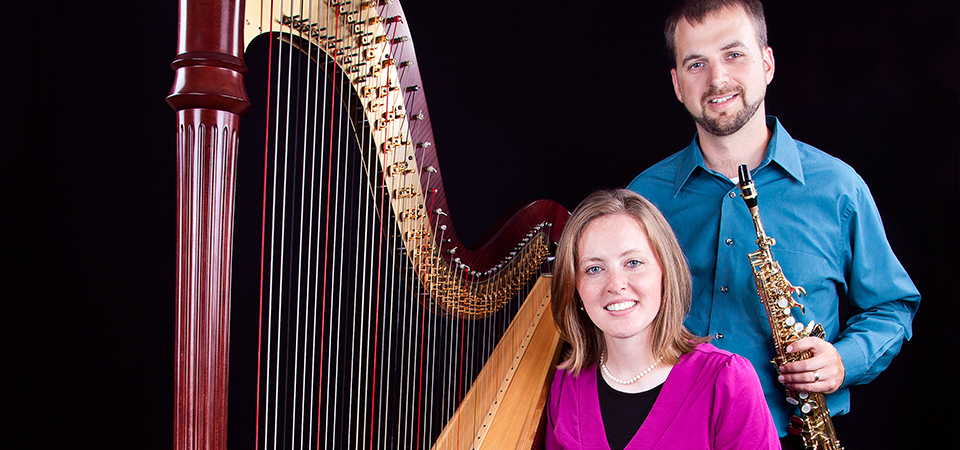 Seth and Moriah with Harp